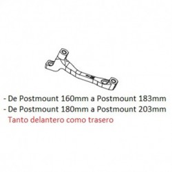 Hope H Postmount 160 to 183/180 to 203mm Front/Rear Disc Brake Caliper Adapter